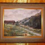 Tablou Pictura In Ulei Pe Panza Peisaj Semnat Greta Lindgren 1977!, Peisaje, Realism