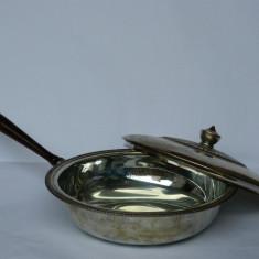URIASA cratita cu capac / legumiera argintata - diametrul 27, 5 cm!, Vas