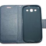 Husa Telefon - Husa Samsung Galaxy S3 i9300 - Fancy - piele ECO - culoare Roz-Albastru