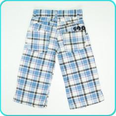FRUMOSI _ Pantaloni din bumbac cu talia reglabila, WE _ baieti | 7 - 8 ani | 128, Marime: Alta, Culoare: Bleu