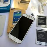 Samsung Galaxy S4 Mini GT- i9195i White Alb 8GB in Cutie + ACCESORII + CADOU !!!