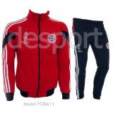 Trening Adidas Bayern Munchen - Bluza si Pantaloni Conici - Pret Special - - Trening barbati, Marime: S, M, L, XL, XXL, Culoare: Bleumarin, Rosu