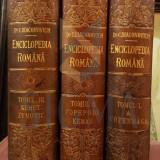 Carte de colectie - C. DIACONIVICH - ENCICLOPEDIA ROMANA, 3 VOLUME, SIBIU, 1898