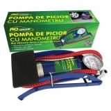 Scule auto - Pompa de picior cu manometru, Ro Group