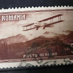 Romania 1931 – VEDERI POSTA AERIANA 5 LEI, timbru stampilat AF1 - Timbre Romania, Stampilat