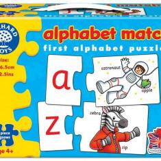 Joc Educativ - Puzzle In Limba Engleza Invata Alfabetul Prin Asociere Alphabet Match orchard toys