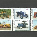 Romania 1985 - TRACTOARE ROMANESTI, serie nestampilata KJ385 - Timbre Romania