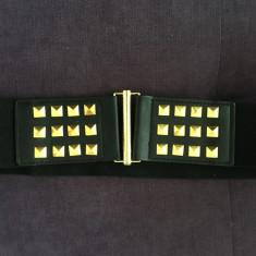 Curea Dama - Curea centura talie neagra cu tinte aurii Zara