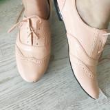 Pantofi dama, Textil - Balerini Pantofi cu Siret Roz Corai 40-41