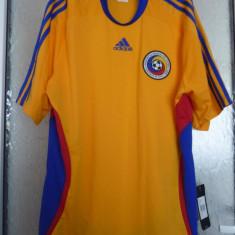 Tricou barbati Adidas, Maneca scurta, Poliester - Tricou fotbal Romania Adidas Clima365 original marime XL