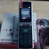Telefon mobil Sony Ericsson, Gri, <1GB, Neblocat, Single SIM, Fara procesor - Telefon Cu Clapeta Sony Ericsson cutie Nefolosit, Culoarea Gri, 3G