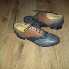 LICHIDARE STOC! Superbi pantofi oxford piele manusa integral foarte comozi 38! - Pantof dama, Culoare: Multicolor, Piele naturala