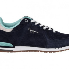 Adidasi PEPE JEANS LONDON Tinker nr. 44, InCutie, COD 145 - Adidasi barbati Pepe Jeans, Culoare: Albastru, Piele intoarsa
