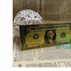 bancnota america, An: 2016 - Sua/USA Bancnota de 1 $, placata cu aur 24k - color