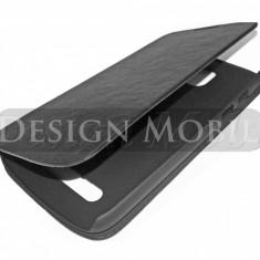 HUSA HTC DESIRE 500 FLIP TIP CARTE SUPER OFERTA - Husa Telefon HTC, Negru, Piele Ecologica, Cu clapeta, Toc