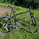 Land Rover Vorbano Carbon Mountain Bike Nespecificat Originala UK, 17 inch, 26 inch, Numar viteze: 27, Negru