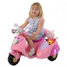 MOTOCICLETA ELECTRICA CU ATAS PURCELUSA PEPPA - Masinuta electrica copii