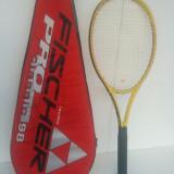 Racheta tenis de camp, Performanta, Grafit/Carbon - Racheta tenis FISCHER REVOLUTION PRO CLASSIC 98+husa