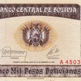 BOLIVIA 5.000 pesos bolivianos 1984 AUNC+/UNC!!!, America Centrala si de Sud