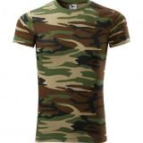 Tricou camuflaj model US Woodland - Tricou barbati, Marime: XS, S, M, L, XL, XXL, Culoare: Gri, Maro, Verde, Maneca scurta, Bumbac