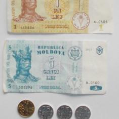 Lot / set monede bancnote Moldova, Europa, An: 2000