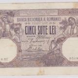 ROMANIA 500 lei 26 aprilie 1919 VF- pete hartie tare P.22a