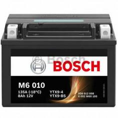 Acumulatori Moto - Acumulator baterie motociclete BOSCH M6 8 Ah 80A tip AGM cod 0 092 M60 100