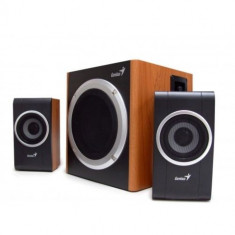 Sistem audio / Boxe Genius 2.1 SW-HF2.1 1200 Wood, 30W RMS Sunet excelent LEMN, Sistem 2.1, 0-40W