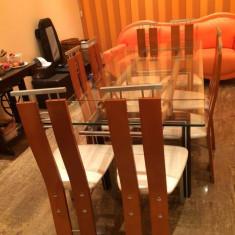 Mobilier - Masa cu scaune din lemn de cires