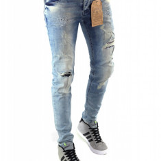 Blugi tip Zara fashion - blugi barbati blugi conici CALITATE GARANTATA cod 6268