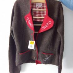 Bluza dama (cardigan) de primavara, lana, marimea M, Marime: M, Culoare: Maro, Maneca lunga, Universala