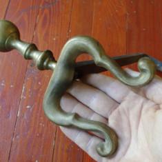 Metal/Fonta - Vechi suport de lemne pentru semineu /metal si bronz !!!!