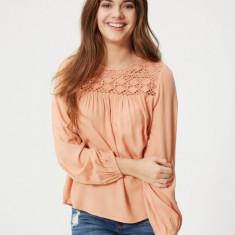 Bluza tip ie, 100% vascoza - Vero Moda -10157232 peach - Bluza dama Vero Moda, Marime: S, L, Culoare: Orange