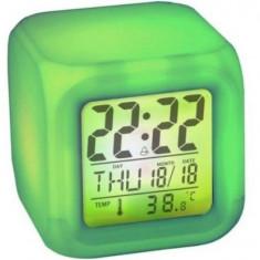 Ceas Cub Multicolor Cu Alarma Si Termometru - Ceas cu proiectie