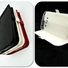 Husa Telefon - Toc FlipCover Stand Magnet LG G3 Alb