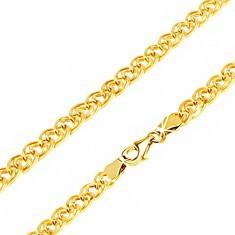 Lanț din aur - zale eliptice mici și mari, foarte lucioase, 550 mm - Lantisor aur