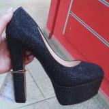 Pantofi - Pantof dama, Marime: 37, Culoare: Negru