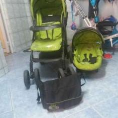 Carucior bebe, scoica si scaun masa bebe - Carucior copii 2 in 1 Bertoni