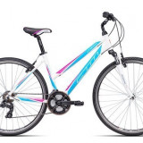 "Bicicleta dama CTM Maxima 2.0, 2016, cadru 18"", alb / albastru deschis Cod Produs: 037.90"