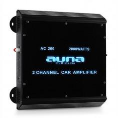 Amplificator de mașină AUNA W2-AC200 2 Canale, 2000W, LED - Amplificator auto