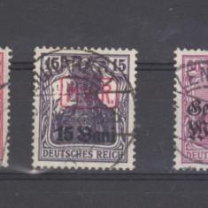 Germania 1919 lot timbre stampilate zone de ocupatie, Militar
