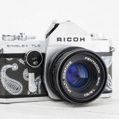Ricoh Singlex TLS + obiectiv la alegere - aparat foto vechi functional, colectie - Aparat Foto cu Film Ricoh, SLR, Mic