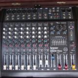 Mixer cu amplificare, 2 boxe Pasivi, Subwofer Activ