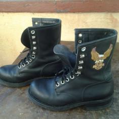 Bocanci Harley Davidson - Bocanci barbati Harley-davidson, Culoare: Negru