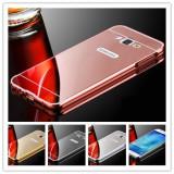 Husa / Bumper aluminiu + spate oglinda Samsung J5 (2016) / J510FN / J5 / J500FN
