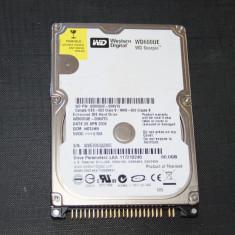 HDD laptop IDE 60 GB, WESTERN DIGITAL WD600UE, functional, FARA bad uri, 41-80 GB, Rotatii: 5400, 8 MB