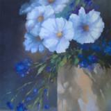 Tablou picturå - flori - Pictor roman, Ulei, Miniatural
