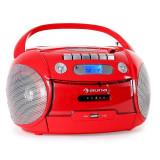 Auna boom-ul Heart Radio portabil USB CD Recorder MP3 roșu - CD player