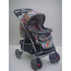 Carucior copil Baby Care model floral - Carucior copii 3 in 1
