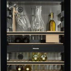 Vitrina de vinuri Miele KWT 6834 SG, 178 sticle, Clasa A, H 192 cm, Inox/Negru - Vitrina Frigorifica